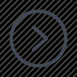arrow, circle, right icon