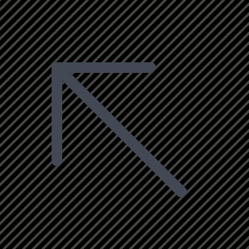 arrow, diagonal, left, up icon