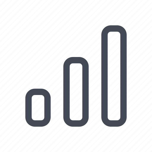 analysis, bar, bars, chart, graph, results, statistics icon