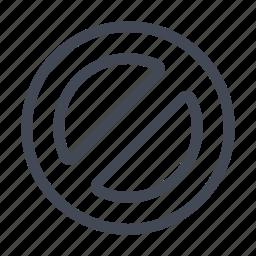 blocked, unavailable icon