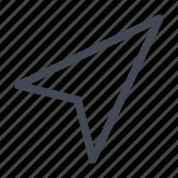 arrow, cursor, localization, pointer icon