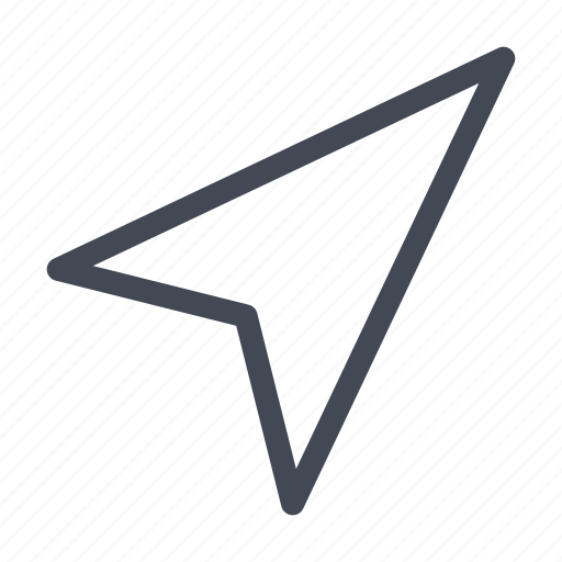 arrow, cursor, direction, location, navigation, pointer icon