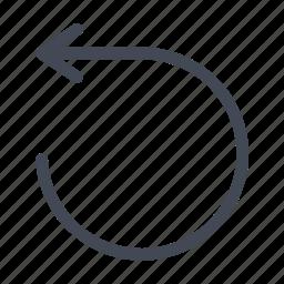 arrow, back, reset, restart, rewind, undo icon