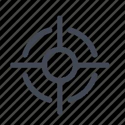aim, focus, hit, scope, shoot, target icon
