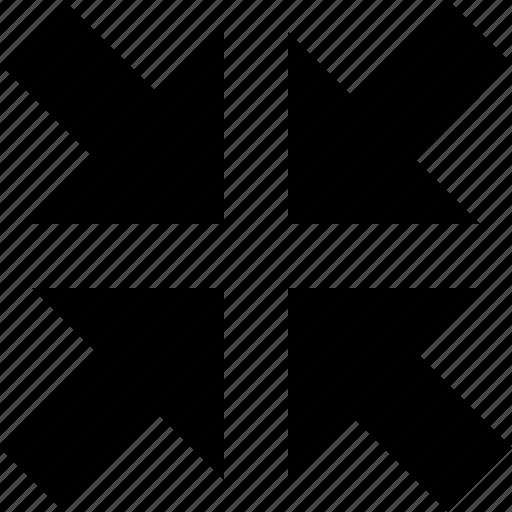 arrows, full screen, fullscreen, in icon