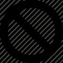 circle, diagonal, disabled, line icon