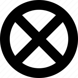 circle, diagonal, disabled, forbidden, lines icon
