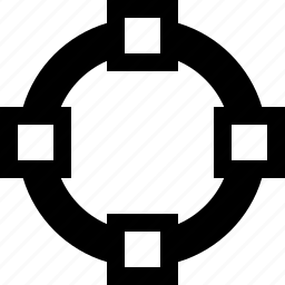 circle, decrease, dots, increase, measure icon