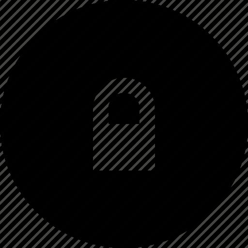 circle, lock, security icon
