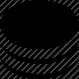 big, circle, pie, stack icon