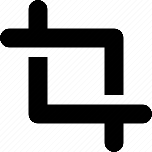 crop, measure, modify icon