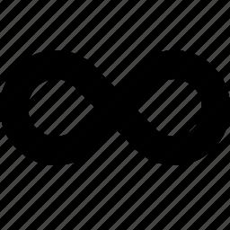 eight, infinite, infinity icon