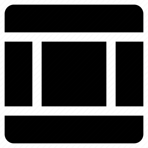 column, columns, footer, grid, header, interface, layout icon