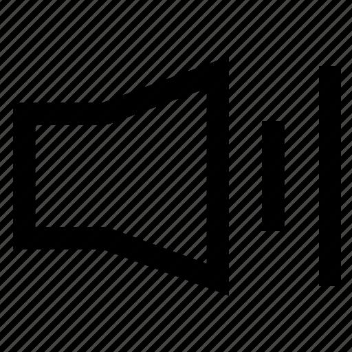 audio, mobile, sound, speaker, volume icon