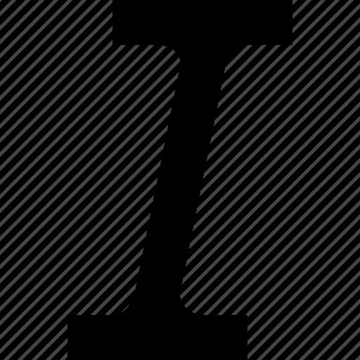 italic, oblique, tilt icon