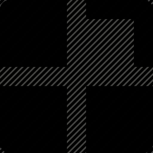 line, square, thumbs icon