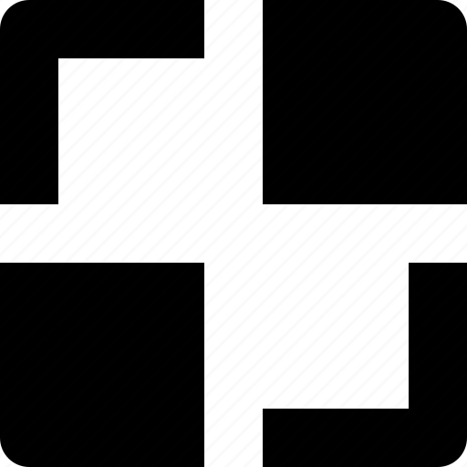 diagonal, line, square, thumbs icon