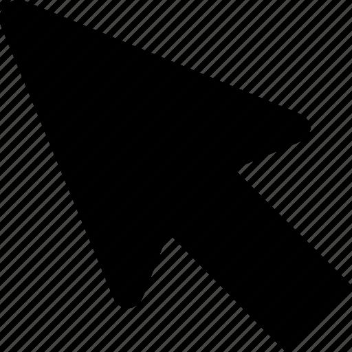 arrow, click, mouse, pointer, press icon