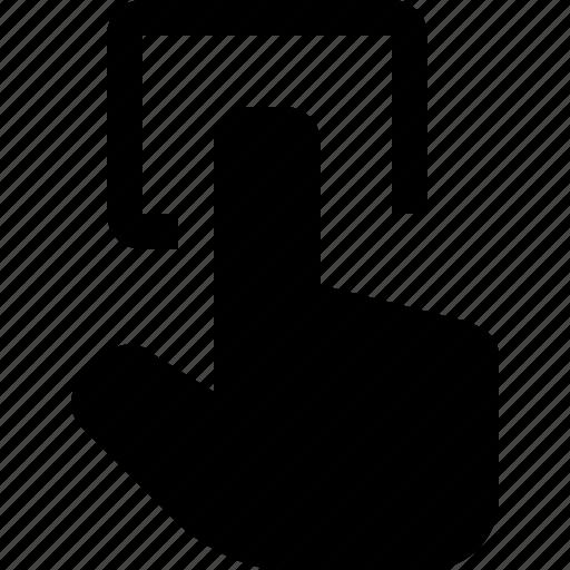 click, hand, mouse, pointer, press, square icon