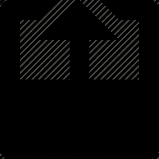 arrow, fold, paper, top, turn icon