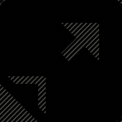 arrow, diagonal, fold, paper, turn icon