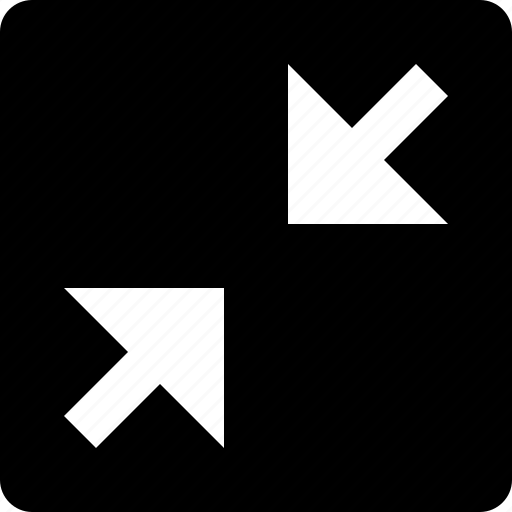 arrows, diagonal, full screen, square icon