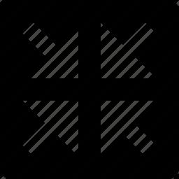 arrows, full screen, in, square icon