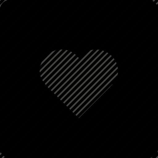 favorite, heart, love, square icon