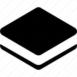 small, square, stack icon