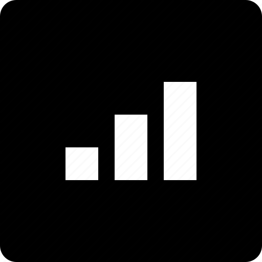bar chart, square, stats icon