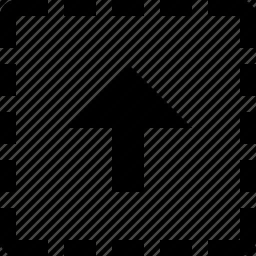 Square, upload icon