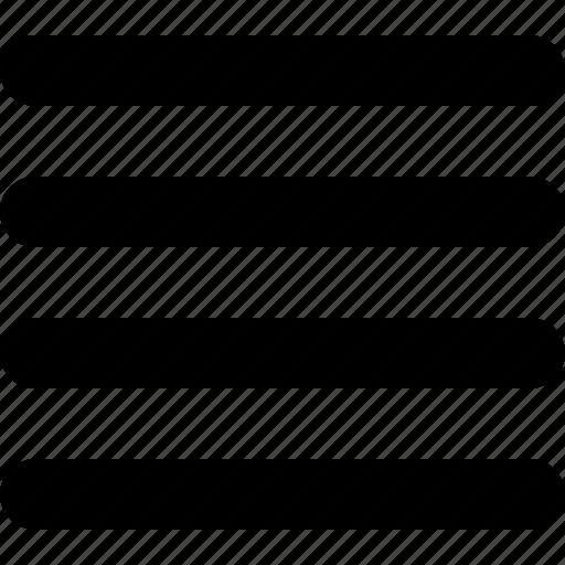 align, justify, text icon