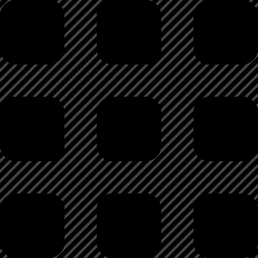 squares, thumbnails, thumbs icon