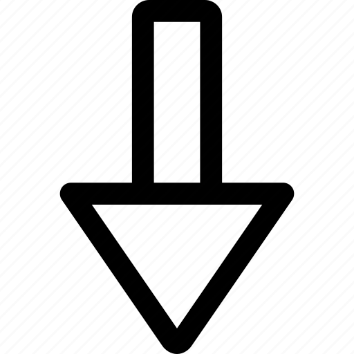 bottom, direction, down arrow, download, fail, guardar, move, save icon