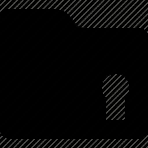 document, folder, lock, security icon