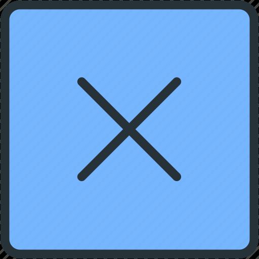 close, exit, interface, square icon