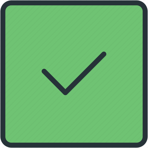 check, interface, vote icon