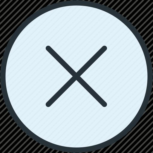 close, exit, interface, no icon