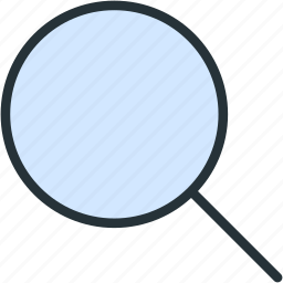 glass, interface, magnifier, search, zoom icon