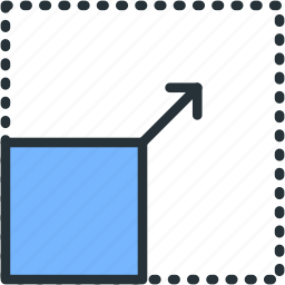 expand, from, interface, move, resize icon