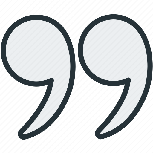 commas, interface, quotation, quotes icon