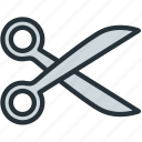 interface, scissors, tools icon
