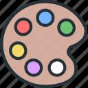 color, interface, pallete icon