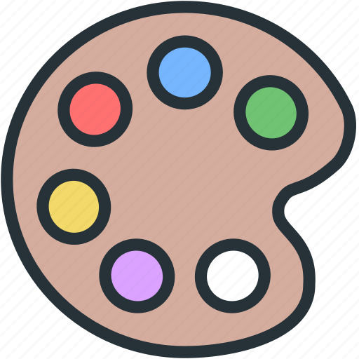color, interface, pallete icon