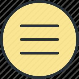 burger, interface, ui icon