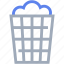 basket, cleaning, laundry, trashcan icon
