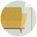 chair, couch, interior, interior design, lamp, room, sofa icon