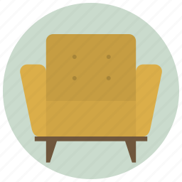 armchair, chair, house, interior, living, room, sofa icon