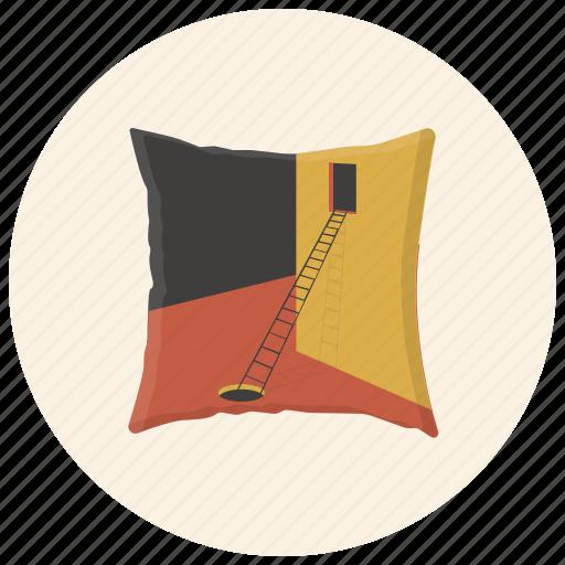 cushion, interior, interior design, interior element, pillow, pouffe, print icon