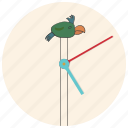 bird, clock, interior, interior element, parrot, time, watch icon